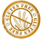 Gluten free stamp — Stock Photo