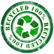 Recycled stamp — Stock Photo