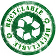 Recyclable stamp — Stock Photo #27881121