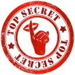 Top secret stamp — Stock Photo