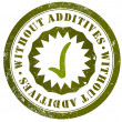 Stock Photo: Without additives stamp