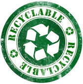 Recyclable stamp — Stock Photo
