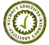 Without additives stamp — Stock Photo