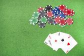 Poker-hintergrund — Stockfoto