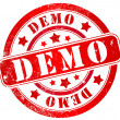 Stock Photo: Demo stamp