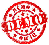 Demo stamp — Stock Photo