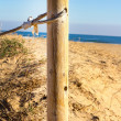 Wooden Post in beach — Stock Photo #30314047