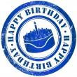 Stock Photo: Happy birthday stamp