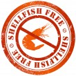 Shellfish free stamp — Stock Photo