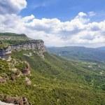 Calcareous cliffs in Tavertet — Stock Photo