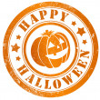 Stock Photo: Happy halloween stamp