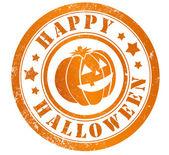 Happy halloween stamp — Stock Photo
