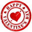 Happy valentine's day stamp — Foto Stock