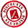 Discounts stamp — Stock Photo #33774963