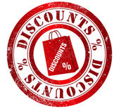 Discounts stamp — Stock Photo