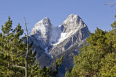 El Pedraforca with snow in winter — Stock Photo