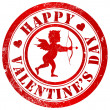 Stock Photo: Happy valentine's day stamp