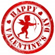 Happy valentine's day stamp — Stock Photo