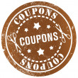Stock Photo: Coupons stamp