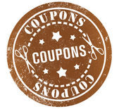 Coupons stamp — Stock Photo