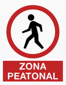 Pedestrian zone — Stock Photo