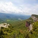 Cliffs in Tavertet over the Sau reservoir — Stock Photo
