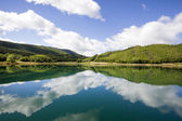 Montcortes lake — Stockfoto