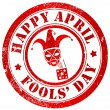 Stock Photo: Happy april fools' day stamp