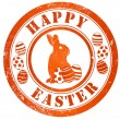 Stock Photo: Happy easter stamp
