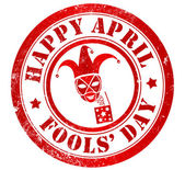 Glad april fools' day stämpel — Stockfoto