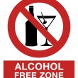 Постер, плакат: Alcohol free zone