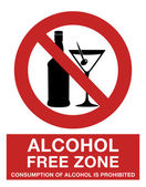 Alcohol free zone — Stock Photo