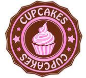 Cupcakes sticker — Stock Photo