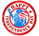 Happy independence day stamp — Stock Photo