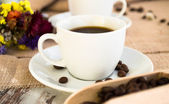 A close-up of a cup of espresso — Stock Photo