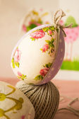 Hand-made Easter egg — Stock Photo
