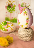 Handmade easter eggs — Stock Photo