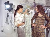 Women in haute couture sa — Stock Photo