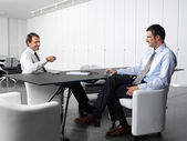 Businesspeople having lunch-break — Stock Photo