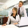 Business people in an office mm — Stock Photo