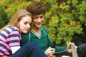 Romantic young couple relaxing — Stock Photo