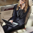 Busy businesswoman with laptop l — Stock Photo #49434199