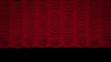 Red Austrian curtain — Stock Video