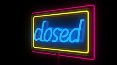 Neon Closed Sign — Stock Video