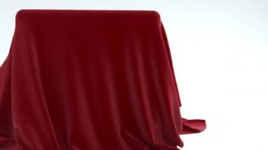 Red fabric reveals a surprise — Stock Video