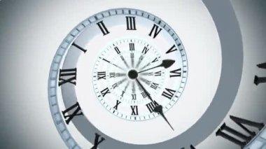 Looping Spiral clock Looping animation — ストックビデオ