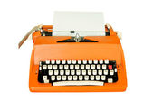 Vintage typewriter isolated — Stock Photo