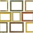 Set of vintage gold picture frame isolated on white — Stock Photo #27659801