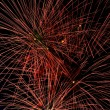 Red firework in night sky — Stock Photo