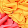 Stock Photo: Smooth elegant red and yellow satin background